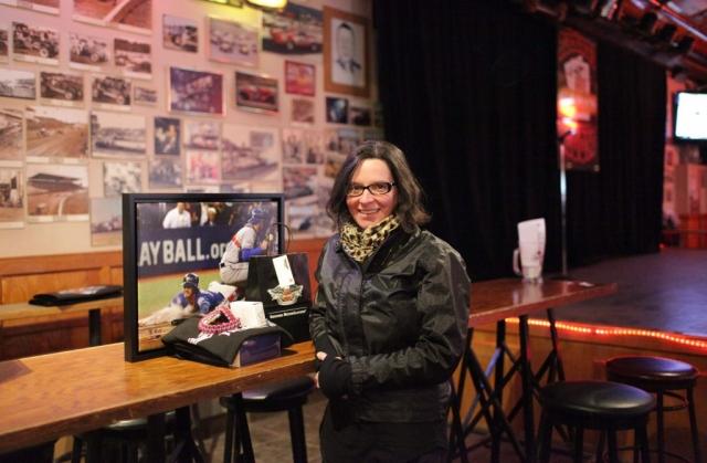 Winner of Ride for Mom prize package. Ride for Mom at Blackjacks Roadhouse & Games Room