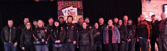 Ride for Mom participants Ride for Mom at Blackjacks Roadhouse & Games Room